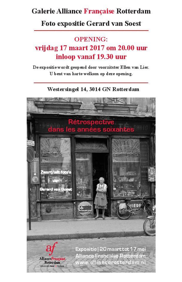 """Vernissage Foto expositie """"Rétrospective de Paris dans les années 1960"""""""