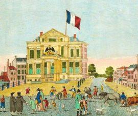 Napoleon.De Franse driekleur wappert op het Schielandshuis