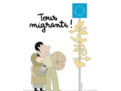 Expositie « Tous Migrants » |  Cartoons voor de vreede