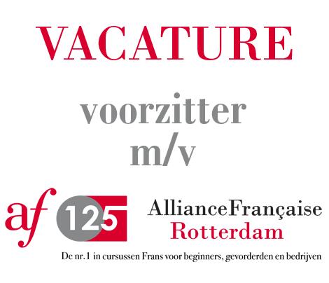 vacature voorzitter Alliance Française Rotterdam