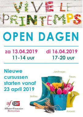 Open dagen april
