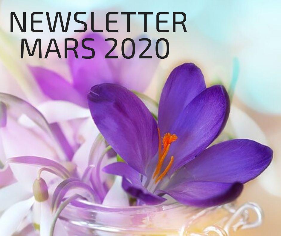 DE NIEUWSBRIEF VAN MAART 2020
