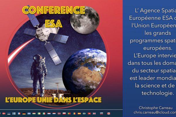 Conférence : ESA, 11 Mars 2021 19:30 En Ligne