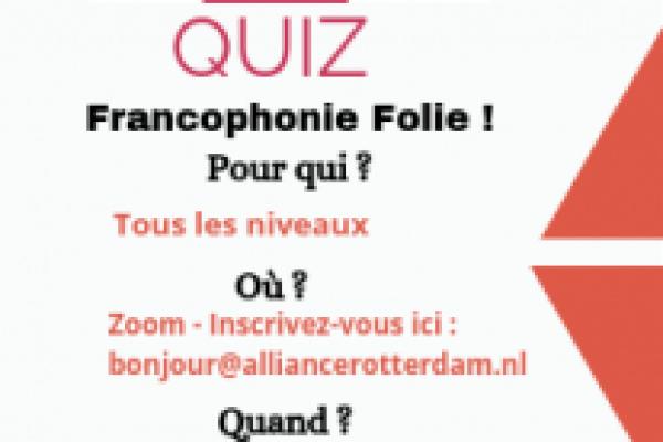 QUIZ – Francophonie Folie