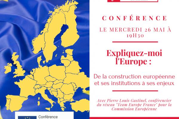 """Conférence – """"Expliquez-moi l'Europe"""""""